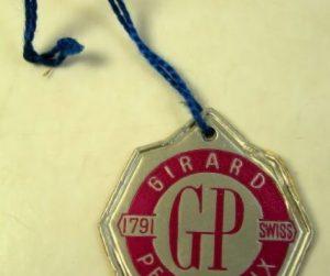 GIRARD PERREGAUX cartellino anni '60 - '70