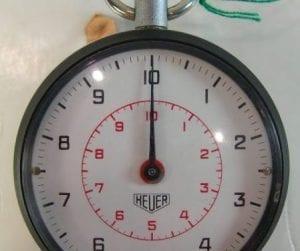 HEUER cronografo al decimo di secondo - anni '70