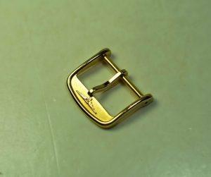 LONGINES fibbia laminata oro giallo - ansa da 18mm - rimanenza d