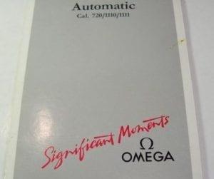 libretto istruzioni OMEGA SPEEDMASTER REDUCED