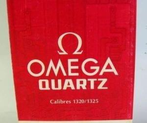 OMEGA QUARTZ calibri 1320/1325 libretto di istruzioni