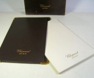 CHOPARD portadocumenti / biglietti da visita / notes - in pelle