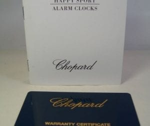 "CHOPARD scatola per pendoletta ""HAPPY SPORT - ALARM CLOCKS2 com"