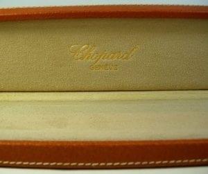 CHOPARD scatola in pelle per orologi da uomo - INUSATA con copri