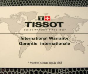 TISSOT garanzia bianca formato bancomat