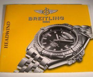 libretto di istruzioni per Breitling HEADWIND