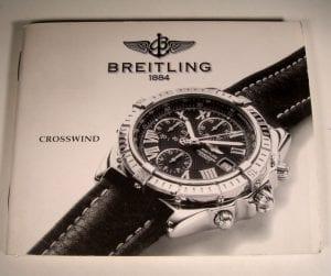 libretto istruzioni per cronografo Breitling CROSSWIND