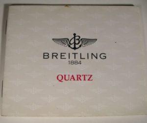 libretto istruzioni per orologi Breitling analogici al QUARZO
