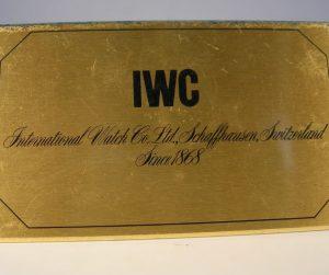 targhetta in ottone IWC
