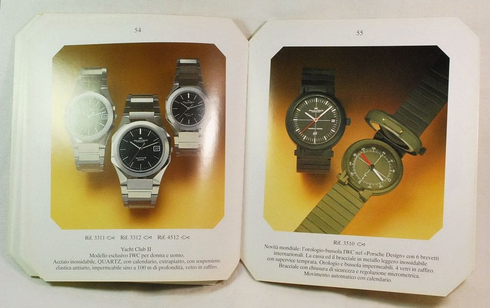 Calendario Ebel.Iwc Rare Color Catalog Dating Back To The Early 80s Contains Ingenieur Sl Yacht Club Da Vinci